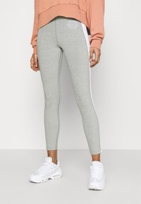 Nike Sportswear - FEMME 7/8 - Leggings - Trousers - grey heather/matte silver/white - 0