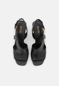 MICHAEL Michael Kors - CLEO OPEN TOE - Sandals - black - 4
