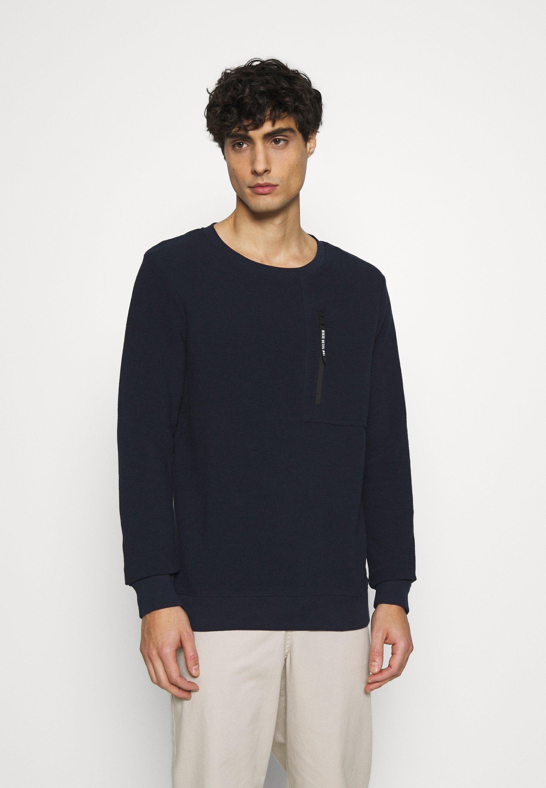 Homme CREWNECK WITH ZIP POCKET - Sweatshirt