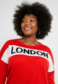 Simply Be - LONDON SLOGAN - Trui - red - 3