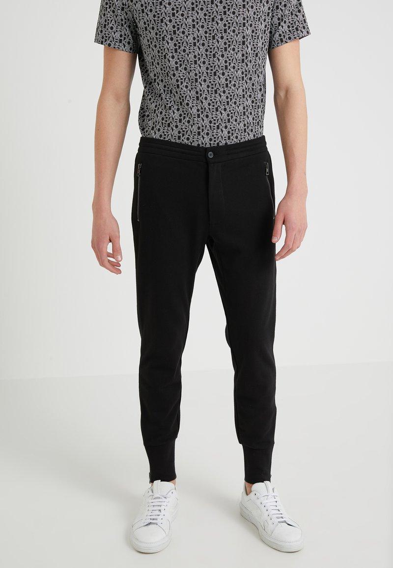 Michael Kors - ZIP JOGGER TRACK PANT - Tracksuit bottoms - black