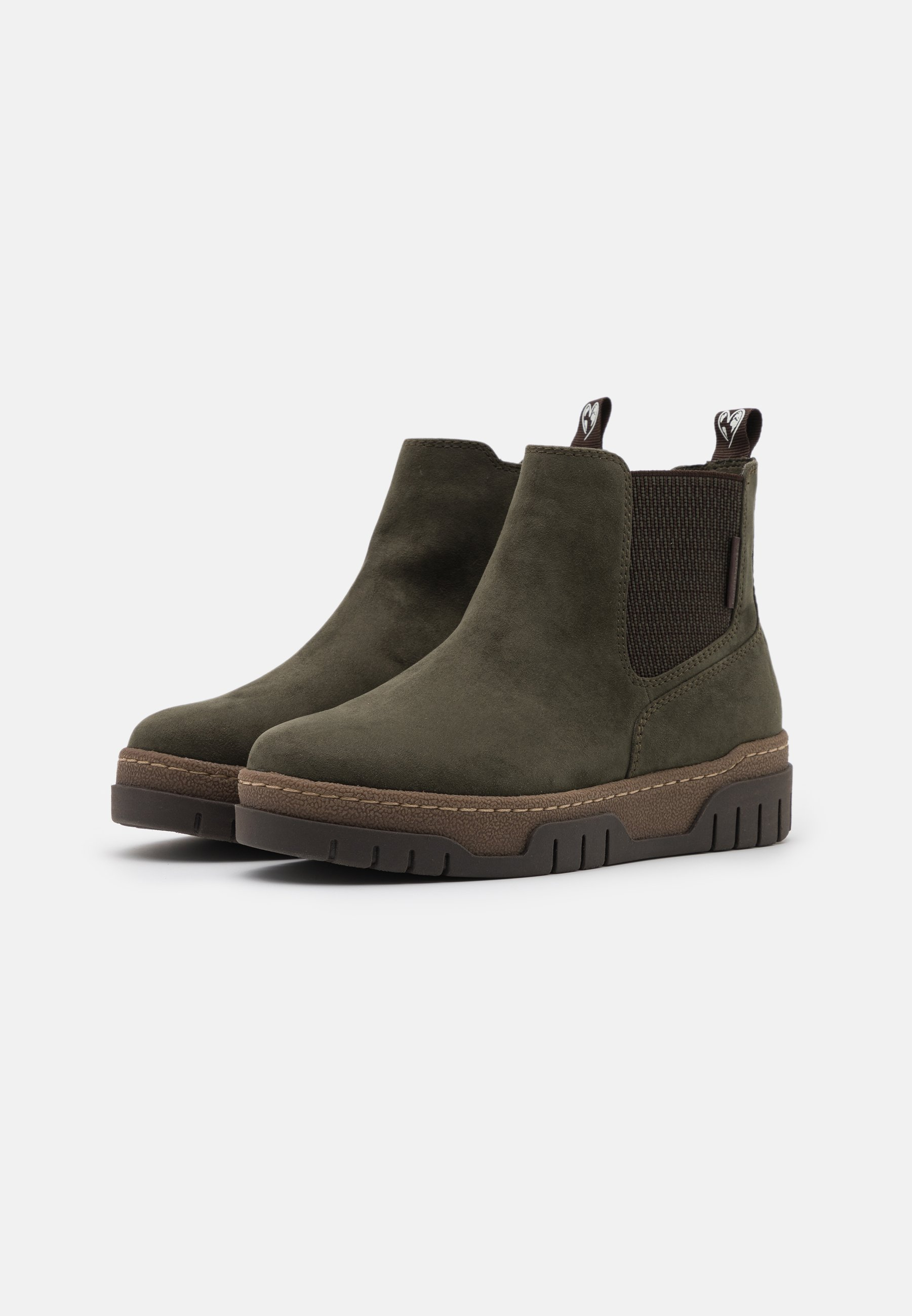 LOVE OUR PLANET by MARCO TOZZI Ankle Boot dark green/dunkelgrün