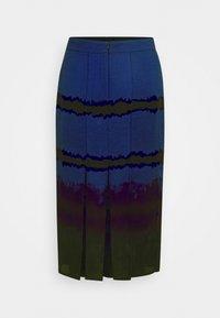 Who What Wear - SLIT SKIRT - A-line skirt - blue tie dye - 1