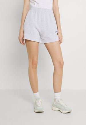 CREST EMBROIDERED LOGO - Shorts - grey marl