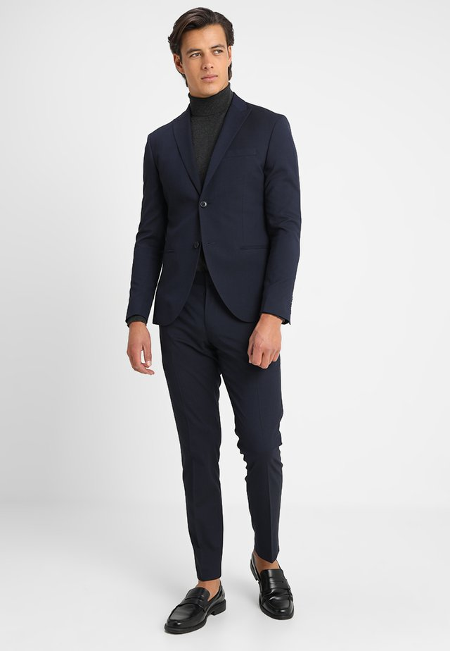 BASIC PLAIN SUIT SLIM FIT - Puku - navy