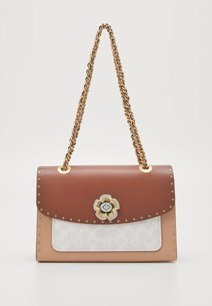 SIGNATURE BORDER RIVETS PARKER SHOULDER BAG - Borsa a mano - chalk rust/multi