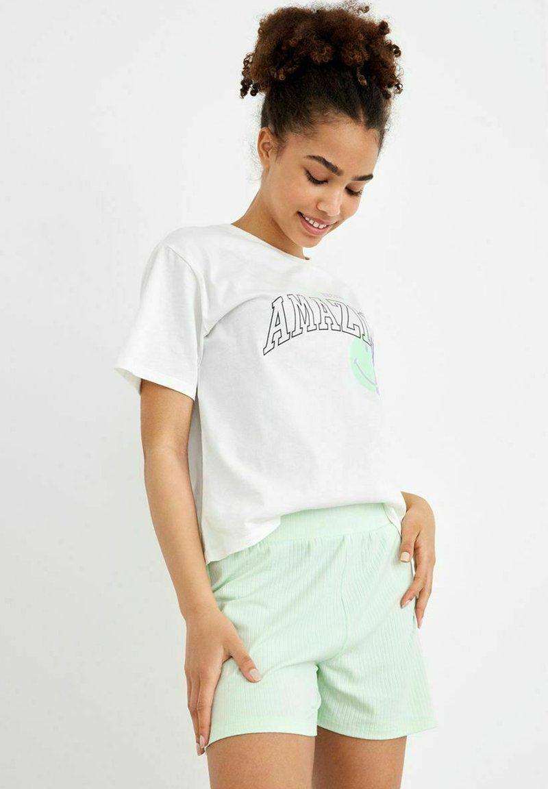 LMTD - T-shirt print - bright white