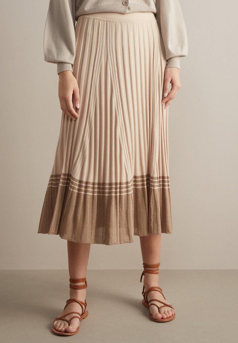 Falconeri - A-line skirt - naturale