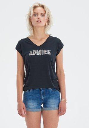 ADMIRE TOP - T-shirt print - black