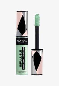 L'Oréal Paris - INFAILLIBLE MORE THAN CORRECTOR - Concealer - 01 green - 0