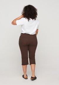 Zizzi - Denim shorts - dark brown - 1