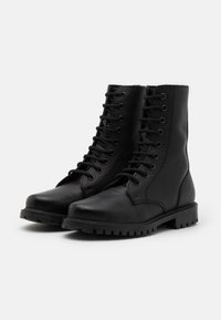 DECHASE - KEFF HIGH EMBOSSED UNISEX - Lace-up ankle boots - black - 1