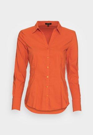 BLOUSE SLEEVE - Button-down blouse - orange flame