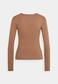 Nly by Nelly - FRONT DETAIL - Long sleeved top - brown - 1
