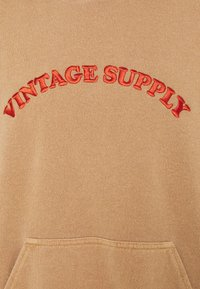 Vintage Supply - HOODIE WITH TONAL UNISEX - Sweatshirt - overdyed tan - 2