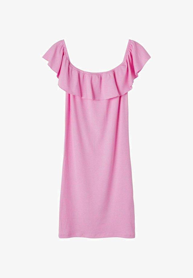 OFF-SHOULDER - Jerseyklänning - lilac chiffon