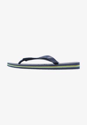BRASIL LOGO - Chanclas de dedo - navy blue