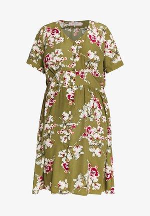 CARONA SWIFT KNEE DRESS - Shirt dress - martini olive