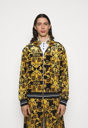 TECNO PRINT LOGO BAROQU - veste en sweat zippée - black