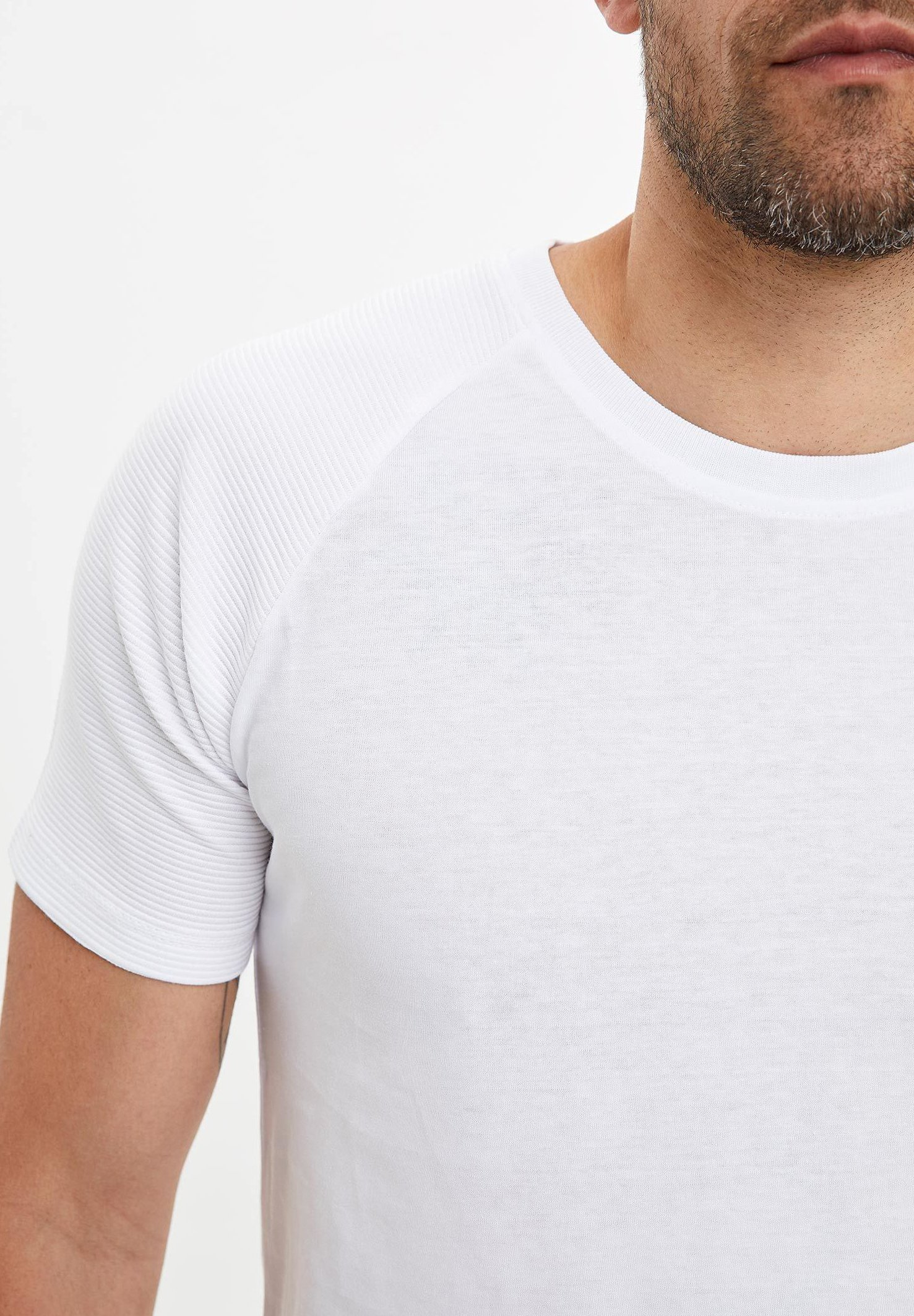 DeFacto Basic T-shirt - white yZQwT