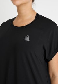 Active by Zizzi - ABASIC ONE - T-shirt basic - black - 4