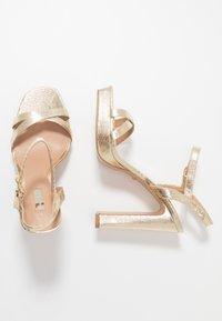 Topshop - SIENNA PLATFORM - Sandály na vysokém podpatku - gold - 1