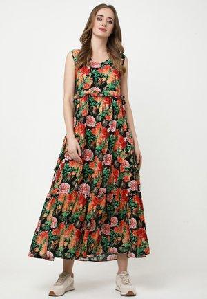 LENOR - Day dress - schwarz, orange