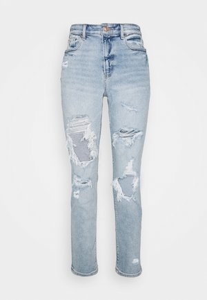 MOM JEAN - Jean slim - destroyed medium wash