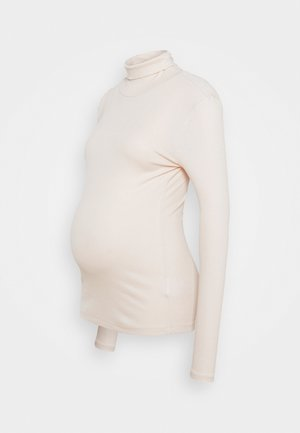 PCMBIRDIE ROLLNECK - Long sleeved top - whitecap gray