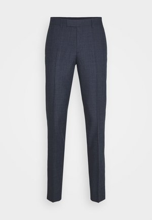 GRANT CHECKED PANTS - Suit trousers - mid blue
