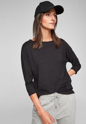 3/4 MANCHES - Basic T-shirt - black