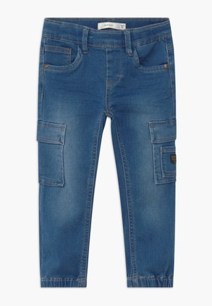 NMMROMEO DNMATHAYER - Cargobroek - medium blue denim