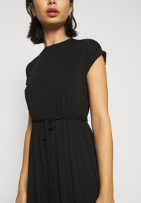 Dorothy Perkins Petite - ROLL SLEEVE DRESS - Maxi šaty - black - 6
