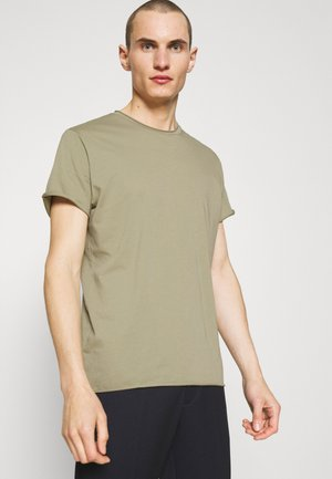 ROLL NECK TEE - Jednoduché triko - sage green