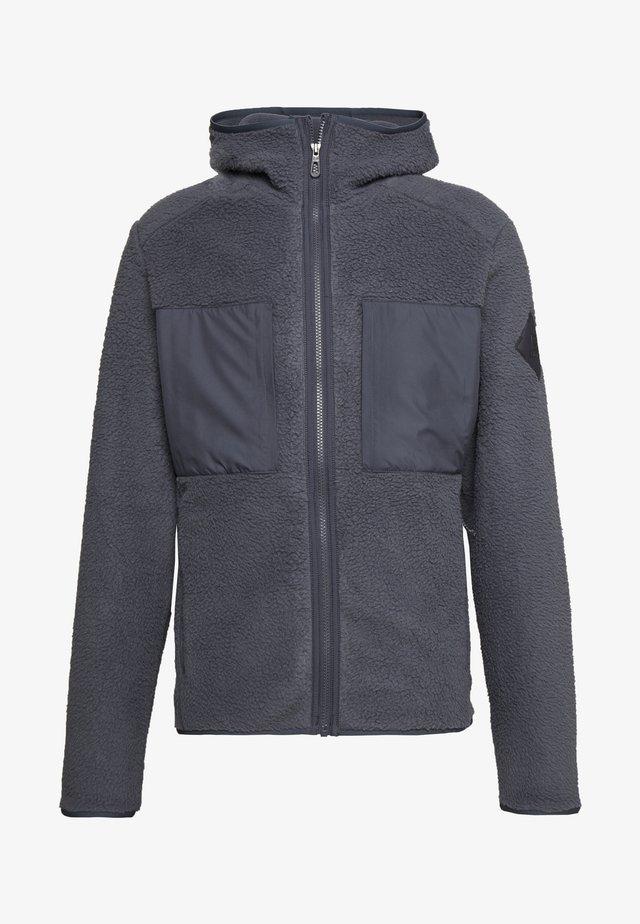 SNOWSHELTER TED HOODIE - Fleece jacket - ebony