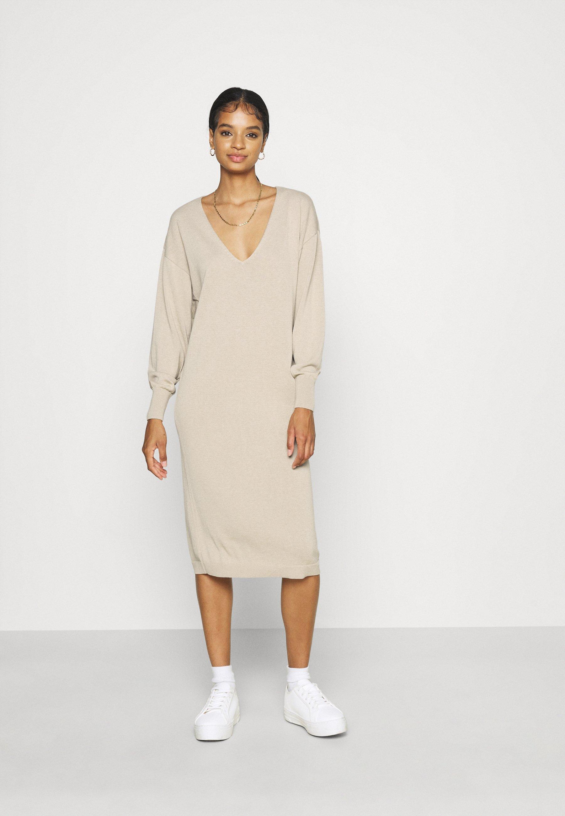 Women NU-IN X JANA´S DIARY V-NECK MIDI DRESS - Jumper dress