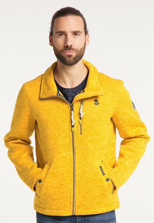 Fleecová bunda - senf melange