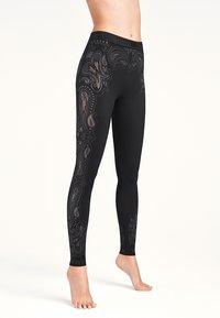 Wolford - OM - Leggings - Trousers - black/ash - 0