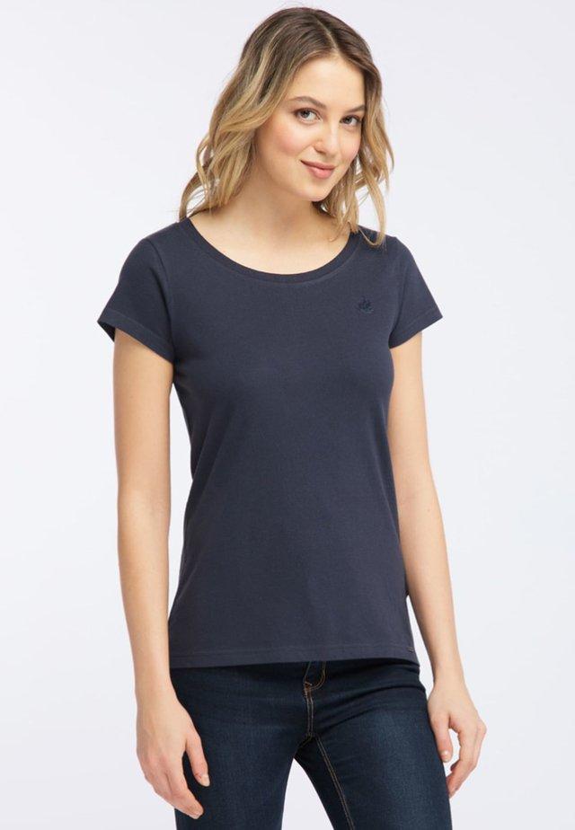MIT KLEINER STICKEREI - T-shirts print - dark blue