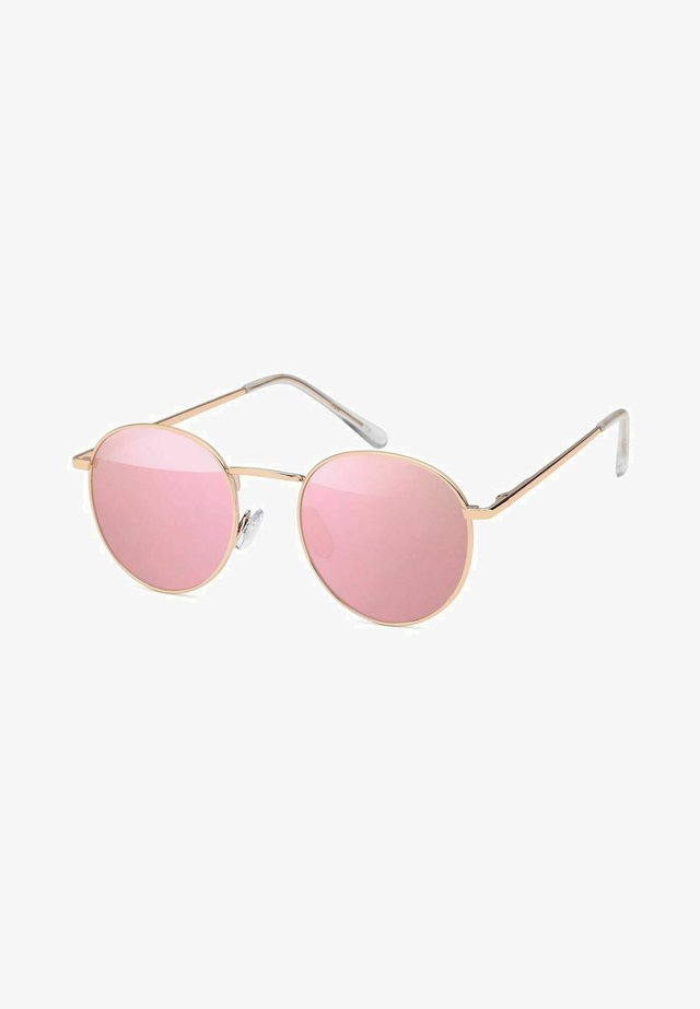Sunglasses - gestell gold / glas pink verspiegelt