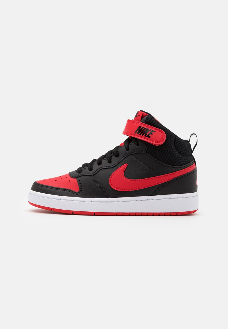 Nike Sportswear - COURT BOROUGH MID UNISEX - Vysoké tenisky - black/university red/white