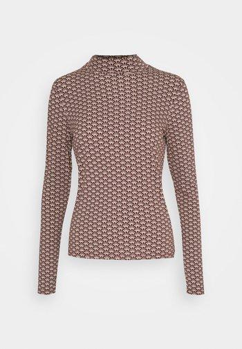 PRINTED LONGSLEEVE WITH HIGH NECK  - Long sleeved top - brown