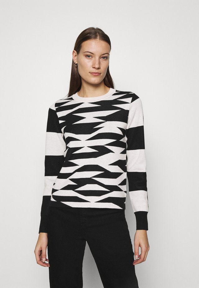 ABSTRACT GEO - Pullover - black/tan