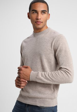 BASIC CREWNECK - Jumper - beige