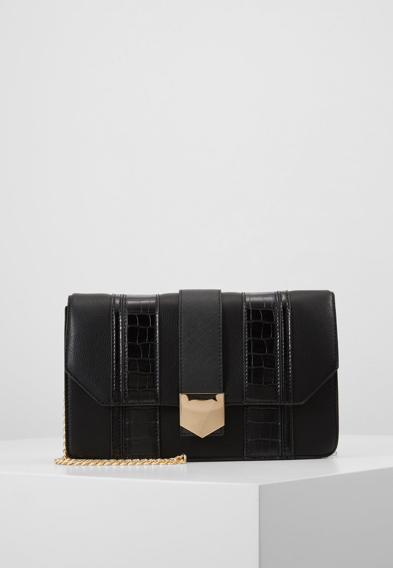 Dorothy Perkins - BLACK PANELLED CROSS BODY - Borsa a tracolla - black
