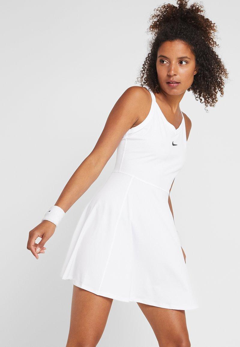Nike Performance - DRY DRESS - Sportovní šaty - white/black