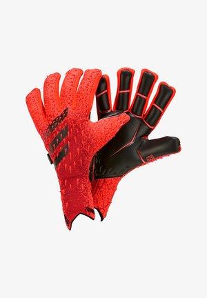 2020-11-10 PREDATOR 20 PRO FINGERSAVE - Keepershandschoenen  - rotschwarz