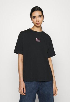 Camiseta estampada - black/hyper pink