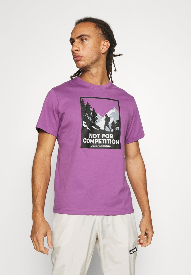NOT FOR COMPETITION  - Print T-shirt - concord grape