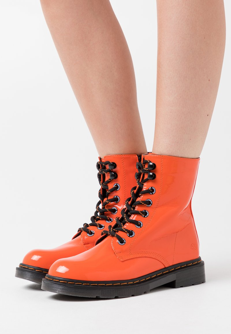 Dockers by Gerli - Lace-up ankle boots - orange
